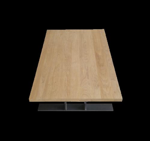 table basse chêne et acier