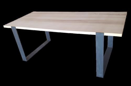 table frêne et acier